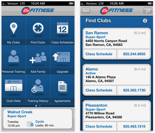 24 Hour Fitness MobileApp
