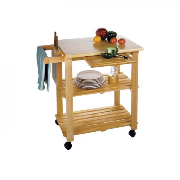Commercial Kitchen Cart Cutting Professional Table: Winsome Wood Complete Kitchen Cart