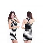 Striped Summer Sleeveless Dress