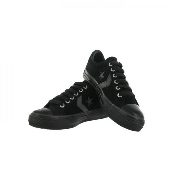 converse black fashion sneakers