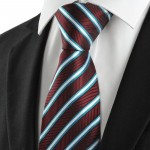 KissTies Jacquard Woven Silk Men's Tie Necktie