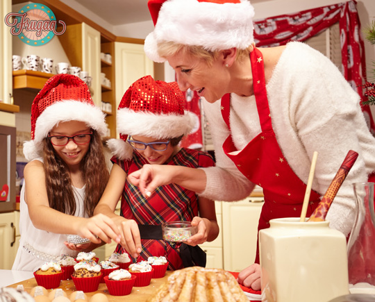 Christmas Kids baking