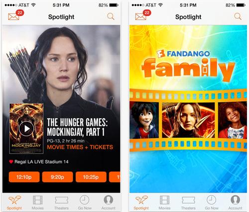 Fandango Mobile App