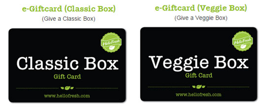 Hello Fresh Gift Cards