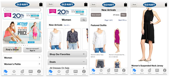 Old Navy Mobile Application