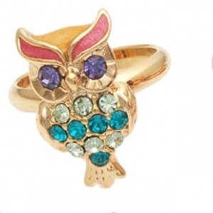 vintage-retro-style-colorful-stone-owl-shape-rings-1
